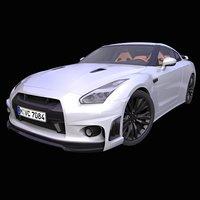 3D generic japanese supercar interior car model