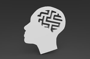 simple head puzzle 3D model