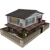 japanese townhouse model