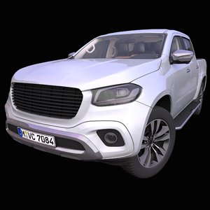 3D generic german pick-up truck