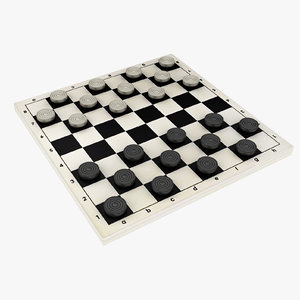 3D draughts board