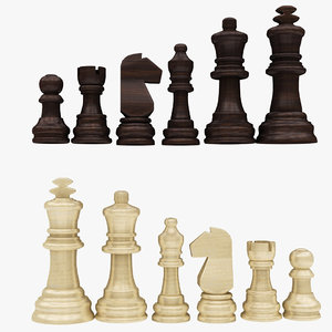 chess equipments 3D model
