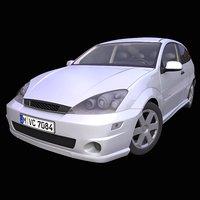 generic european hatchback interior car 3D model