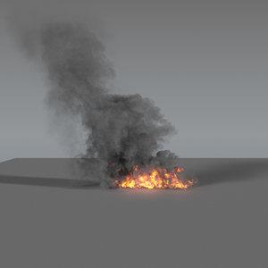 3D model smoke column