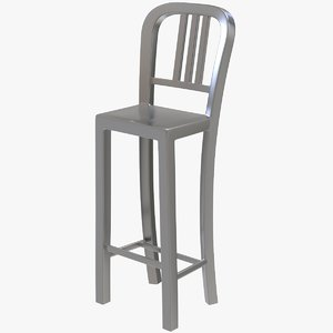 metal chair 3d max