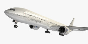 3D boeing 777-9 generic white
