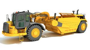 3D tractor scraper model