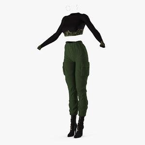 3D women city style clothes