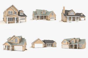 3dsmax hi-poly cottages vol 4