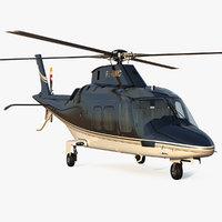3D agusta aw109s grand black model