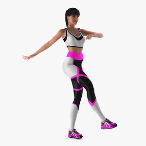 fitness instructor rigged 3D model