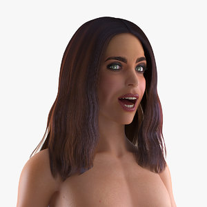 3D nude woman rigged model