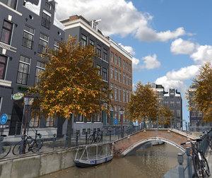 amsterdam street 3D