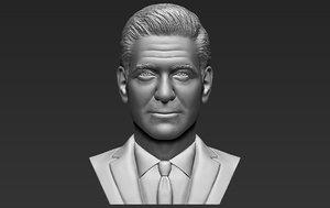 3D george clooney bust printing