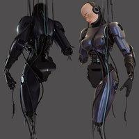 Broken robot girl