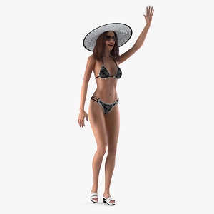 bikini girl rigged model