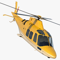 3D model multi-purpose helicopter retractable landing gear