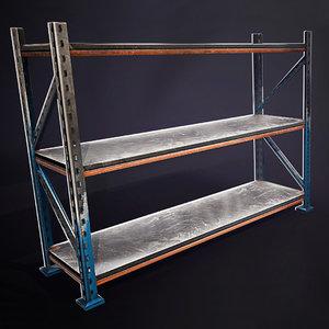 3D 4 rack shelves ready
