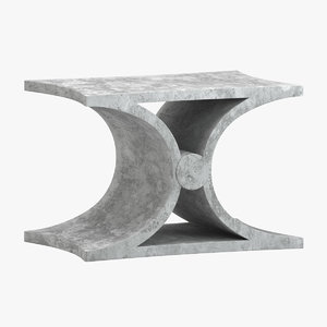 3D table 124 model