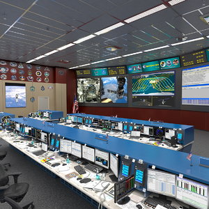 nasa mission control room model