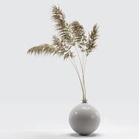 Vase with dry flowers_0002