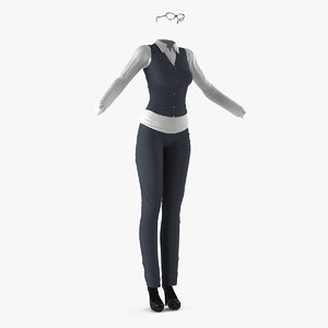 women business style clothes 3D model