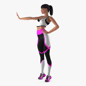 3D fitness instructor