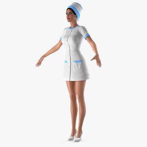3D nurse t-pose model