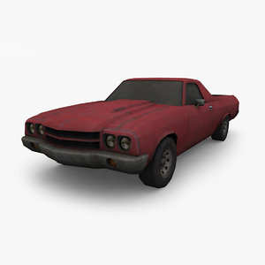 old pick car 3D model