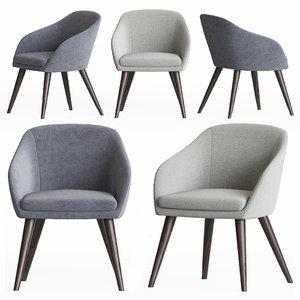 aleria dining chair papadatos 3D model