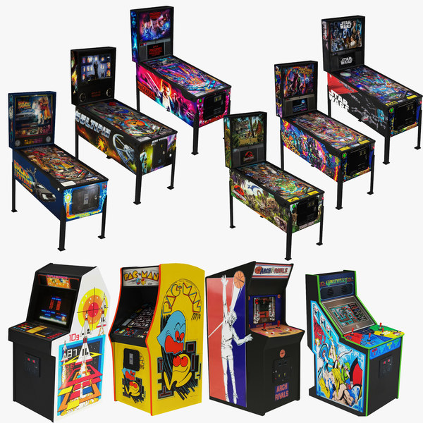 arcade retro pinball 10 3D model