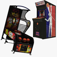 3D basketbol arcade machine archrivals