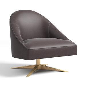 rh porter swivel leather chair 3D