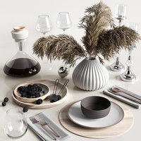 table setting reeds 3D model