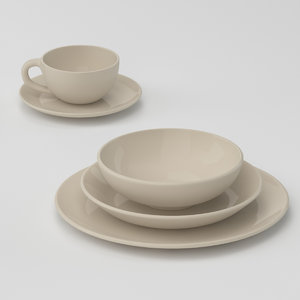 3D tableware 03