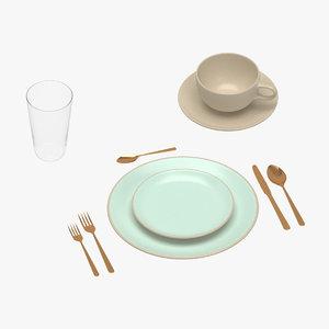 tableware 05 model