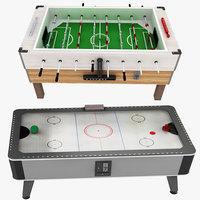 3D model foosball airhockey