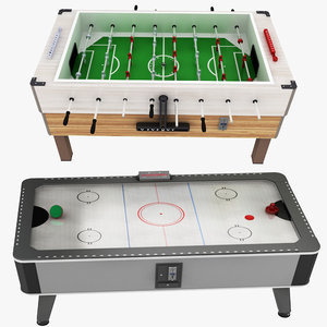 3D model foosball airhockey