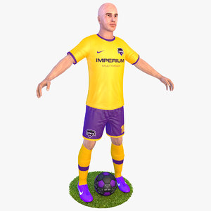 3D model soccer player 4k