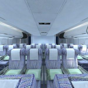 3D airplane interior plane