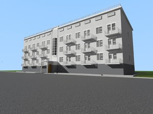 3D simple apartment model