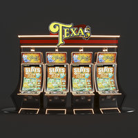 casino Tex slot machine 3D model