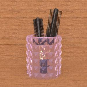 brush glass model