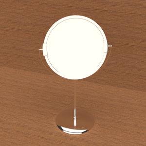 vanity table mirror 3D