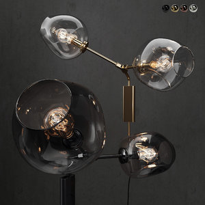 branching bubble wall lamp 3D model