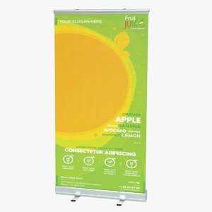 3D wide roller banner