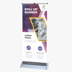 3D premium roller banner
