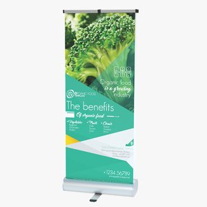 3D double-sided roller banner