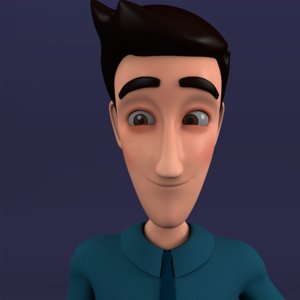 leo character rigged model