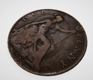 3D british coin